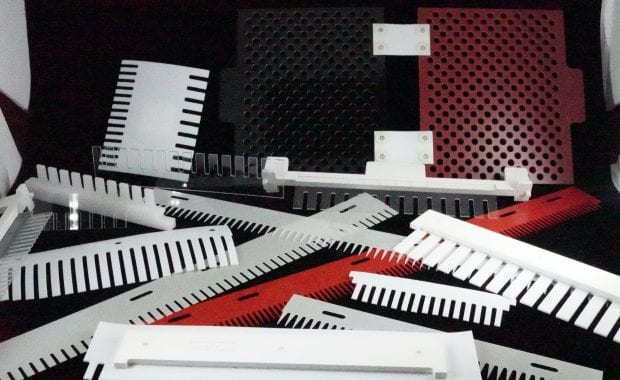 Machined Electrophoresis Combs for the Biomedical Industry Lexan, Teflon Assembly Ultrasonic Welding